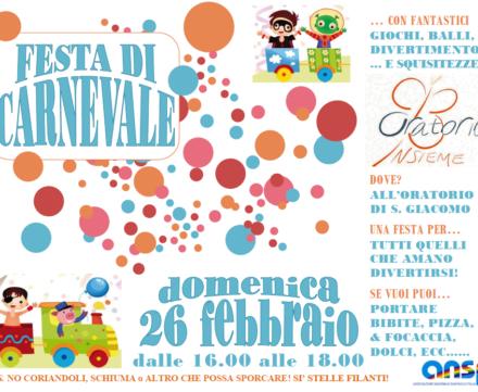 Festa di Carnevale – domenica 26 febbraio